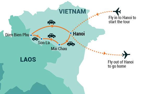 Dien Bien Phu Vietnam Map.North West And Dien Bien Phu Tour Indochina Pioneer Tours