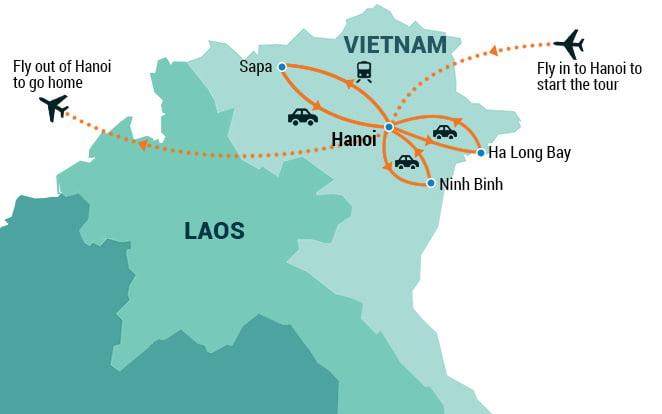 Northern Vietnam Map.Best Of Northern Vietnam Indochina Pioneer Tours