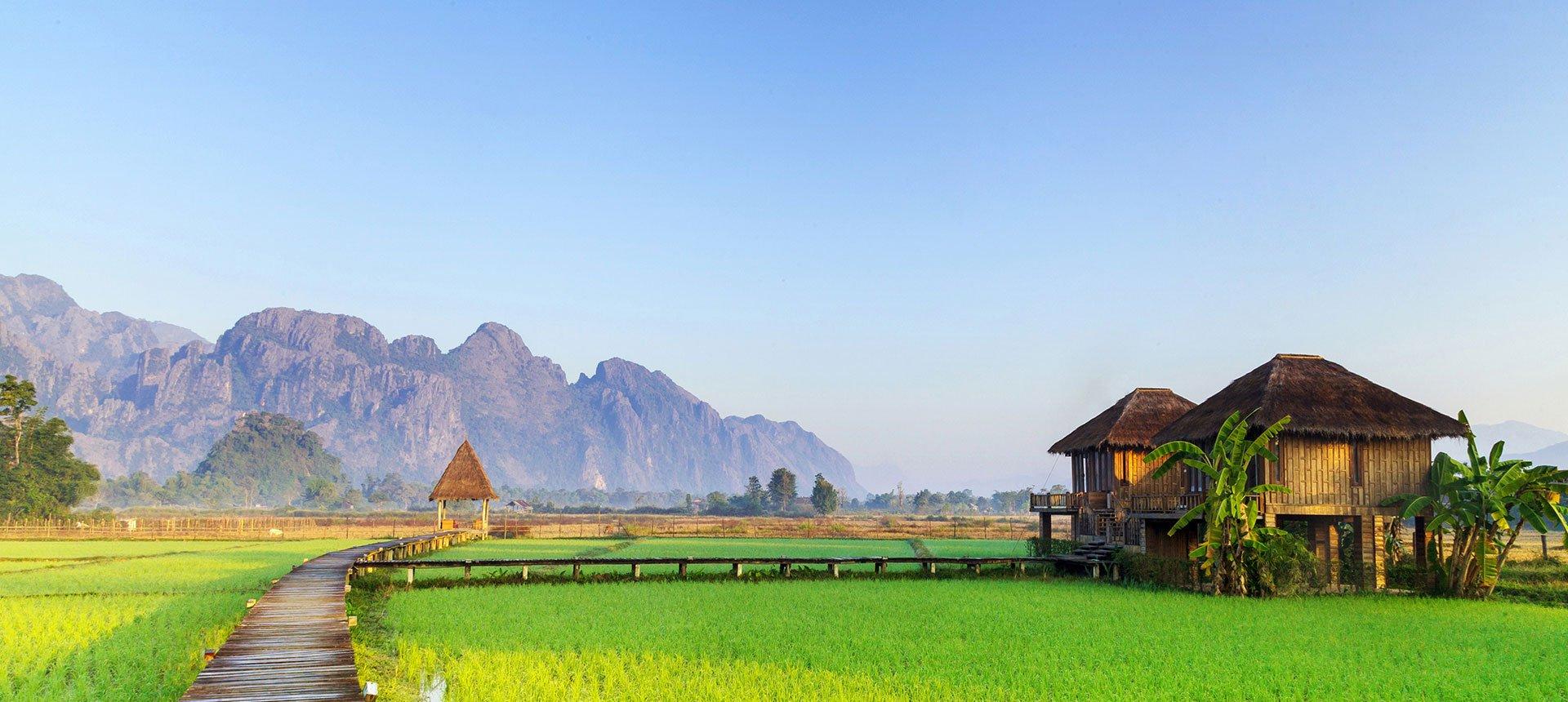 Vang Vieng landscape, Laos