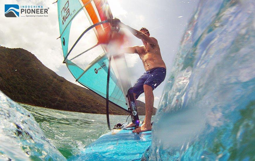 Wind surfing in Vietnam