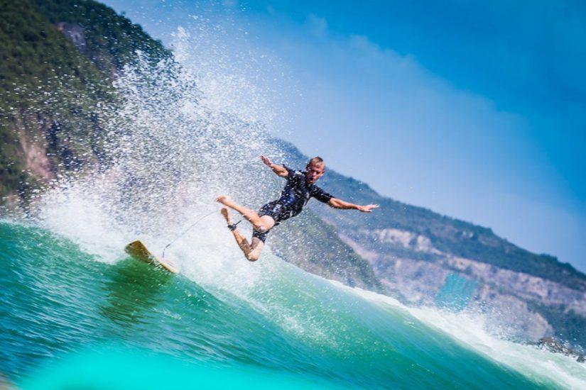Surfing in Nha Trang, Vietnam