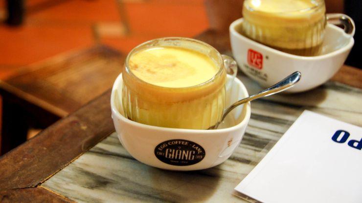 Hanoi egg coffee