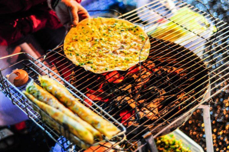 Dalat night market food