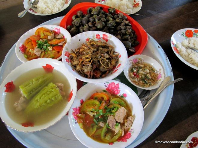 Cambodian style meal